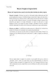 Mesure des angles et trigonométrie