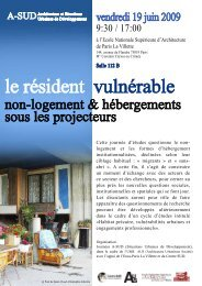 le résident vulnérable - Ecole Nationale Supérieure d'Architecture ...