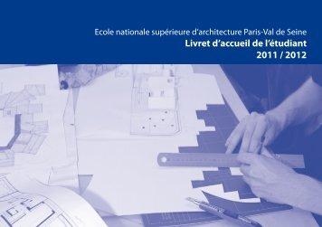 Livret d'accueil de l'étudiant 2011 / 2012 - Ecole Nationale ...