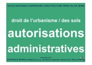 des sols : autorisations administratives / D. Brard - Ecole Nationale ...