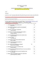 Fiche de pré-inscription et présentation des séminaires optionnels ...