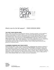 What's new for the fall season? - Paris Design Week