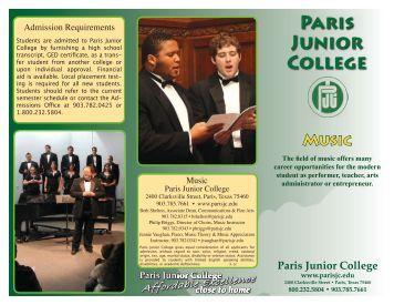 download the program brochure - Paris Junior College