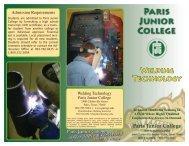 WELDING TEcHNOLOGY - Paris Junior College