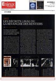 les décrets laval ou la revanche des rentiers - Paris School of ...