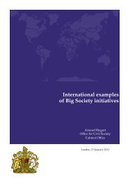 International examples of Big Society initiatives - Paris School of ...
