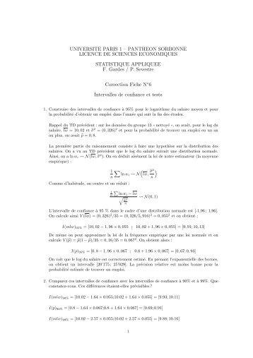 UNIVERSITE PARIS 1 – PANTHEON SORBONNE LICENCE DE ...