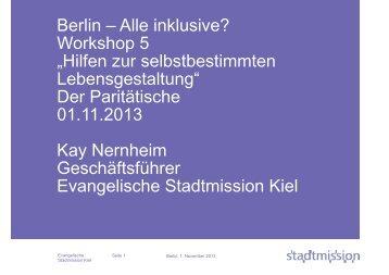 Hilfen zur selbstbestimmten Lebensgestaltung - Der Paritätische Berlin