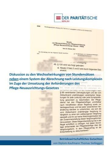 Gutachten von Thomas Sießegger - Der Paritätische Berlin