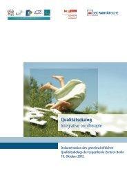 Qualitätsdialog Integrative Lerntherapie - Der Paritätische Berlin