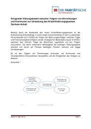 Notwendige Schritte AG Finanzierung - Der PARITÄTISCHE ...
