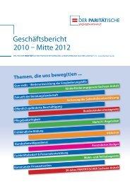 Geschäftsbericht 2010-2011 - Der PARITÄTISCHE Sachsen Anhalt