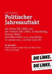 Politischer Jahresauftakt - Die Linke