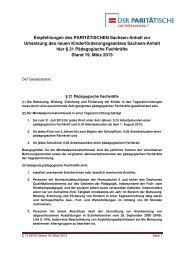 Empfehlung § 21 AG Finanzierung PARITAET LSA - Der ...