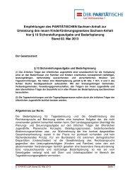 PARITÄTISCHE Empfehlungen zu § 10 KiFöG LSA - Der ...
