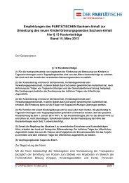 empfehlung § 13 AG Finanzierung PARITAET LSA 15 032013 - Der ...