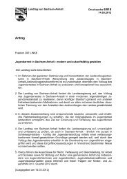 Jugendarrest in Sachsen-Anhalt - modern und zukunftsfähig gestalten