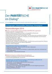 Geschäftsbericht im Dialog - Der PARITÄTISCHE Sachsen Anhalt
