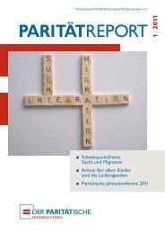 Parität Report 01-11 - Landesverband Paritätischer Niedersachsen ...