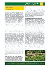 1. Trockengarten - Park der Gärten