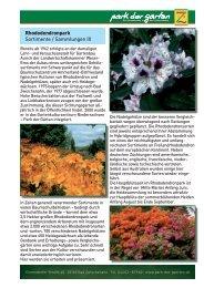Rhododendronpark - Park der Gärten