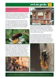 Insektennistwand - Park der Gärten