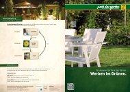 Werben im Grünen. - Park der Gärten