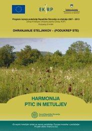HARMONIJA PTIC IN METULJEV - Zavod RS za varstvo narave