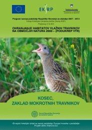 Kosec, zaklad mokrotnih travnikov - Zavod RS za varstvo narave