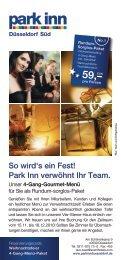 Weihnachtsfeier Flyer - Park Inn Düsseldorf Süd