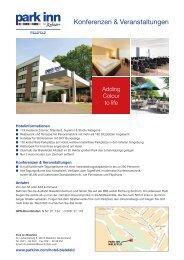 Factsheet deutsch - Park Inn Bielefeld