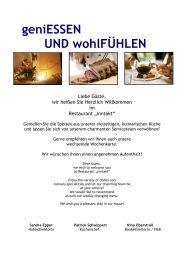 Restaurantkarte - Park Inn Düsseldorf Süd