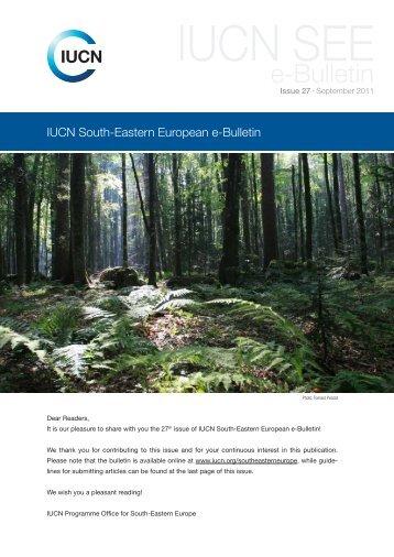 IUCN South-Eastern European e-Bulletin 27 (September 2011)