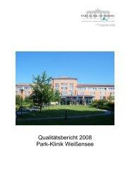 Qualitätsbericht 2008 Park-Klinik Weißensee