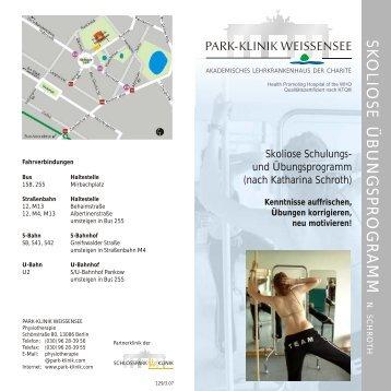SK O LIO SE Ü B U N G SP R O G R A M M - Park Klinik Weißensee