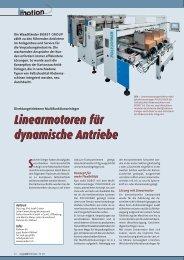 Linearmotoren für dynamische Antriebe Linearmotoren ... - Parkem AG