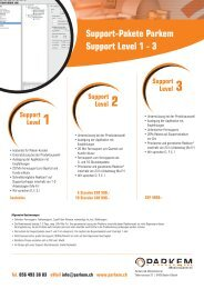 Support-Pakete Parkem Support Level 1 - 3 - Parkem AG