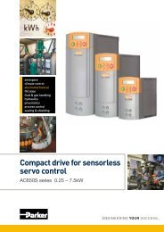 Compact drive for sensorless servo control