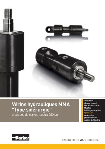 "Vérins hydrauliques MMA ""Type sidérurgie"" - Parker"