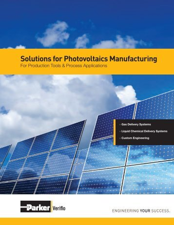 Solutions for Photovoltaics Manufacturing - Parker