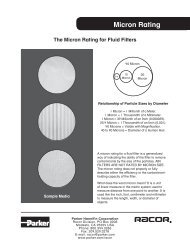 The Micron Rating For Fluid Filters - Parker