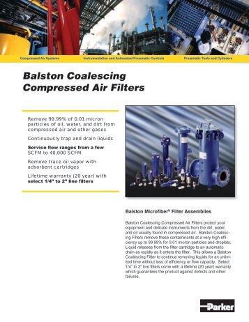 Balston Coalescing Compressed Air Filters - Balston Filter