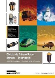 Divizia de filtrare Racor Europa – Distribuţie - Parker