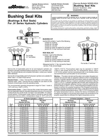 Bushing Seal Kits - Parker