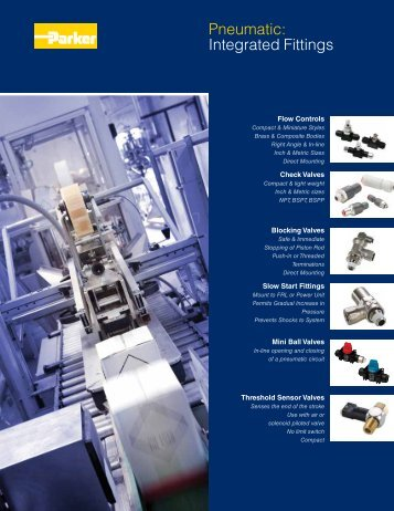 Pneumatic: Integrated Fittings - Parker