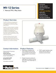 Product brochure in pdf - Parker