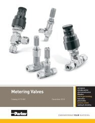 HR Series Metering Valves - Ohio Valley Industrial Services