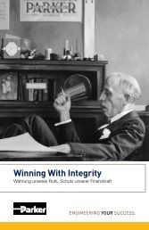 Winning With Integrity - Parker