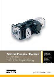 Zahnrad Pumpen / Motoren - Parker