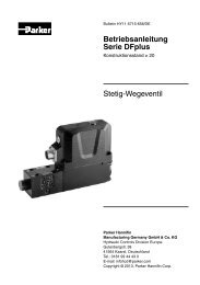 Stetig-Wegeventil Betriebsanleitung Serie DFplus - Parker